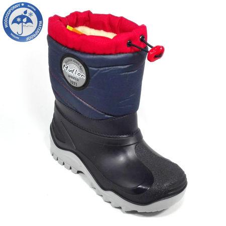Renbut Śniegowce Granat Czerwony 32-468-0120-29/30 (1)