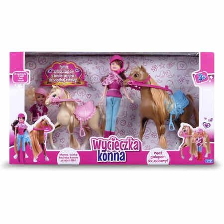 lalka barbie dżokejka Natalia Mama z córką na wycieczce konnej