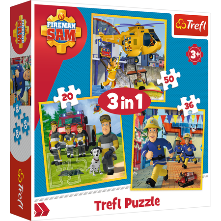 Trefl 34844 Puzzle 3w1 Strażak Sam (1)