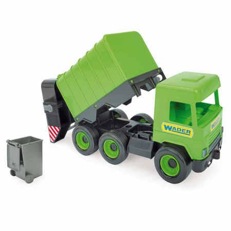 Wader 32103 Middle Truck Śmieciarka zielona