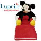 Lupcio Fotelik rozkladany dla chłopca Myszka Miki